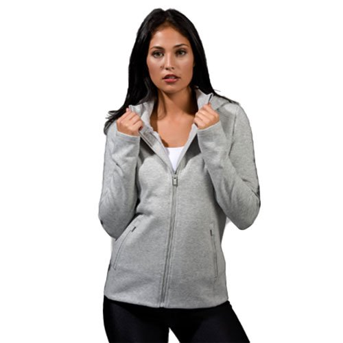 Women's Missy Long Sleeve Crossover Hoodie, Heather Gray, swatch