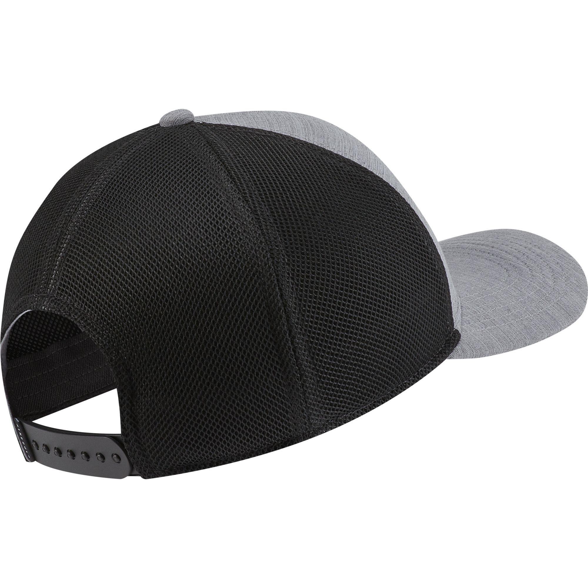 AeroBill Classic99 Mesh Golf Hat, Charcoal/Black, swatch