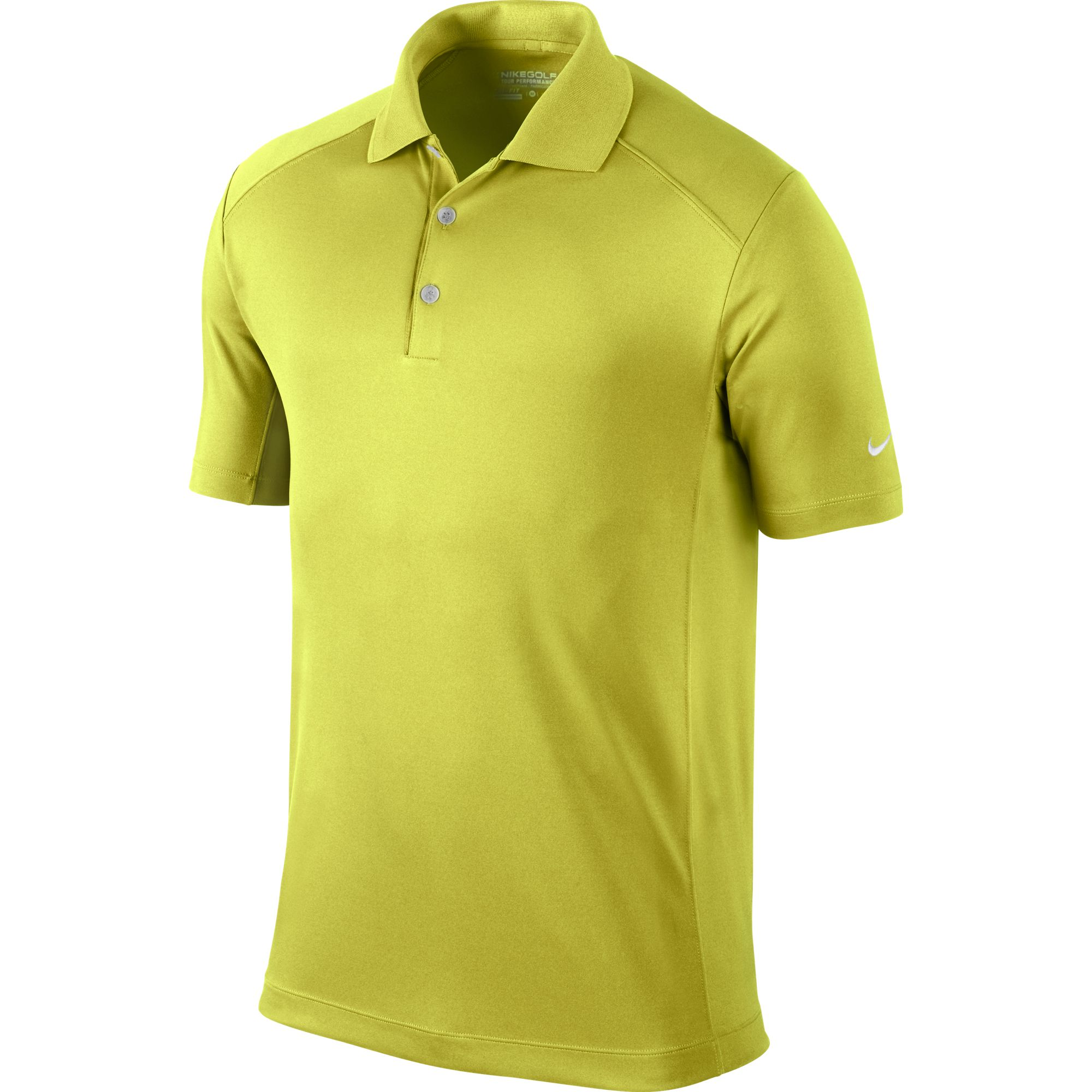 Men's Victory Solid Polo Golf Shirt, Chartreuse, swatch
