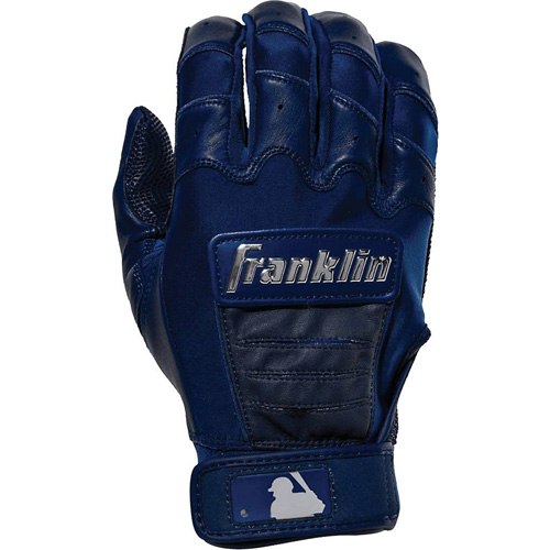 Men's MLB CFX Chrome Batting Gloves, Navy, swatch