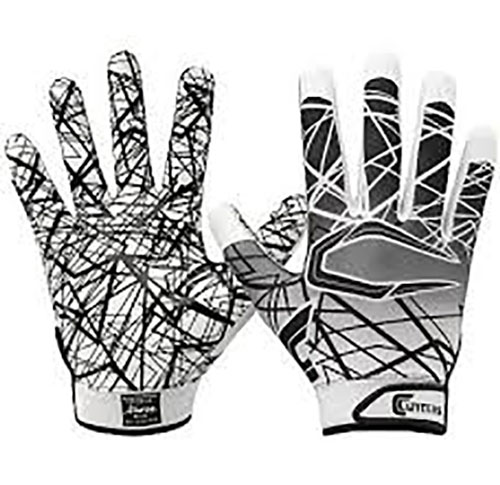 Youth Game Day Receiver Gloves, White, swatch