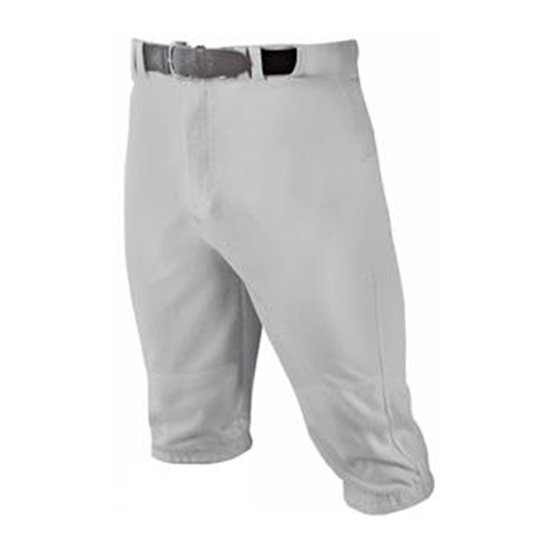 Youth Knicker Baseball Pants, Gray, swatch