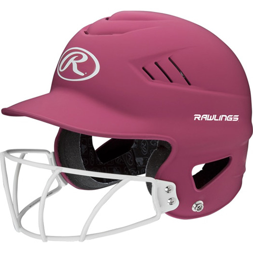 Highlighter Fastpitch Batting Helmet With Mask, Pink, swatch