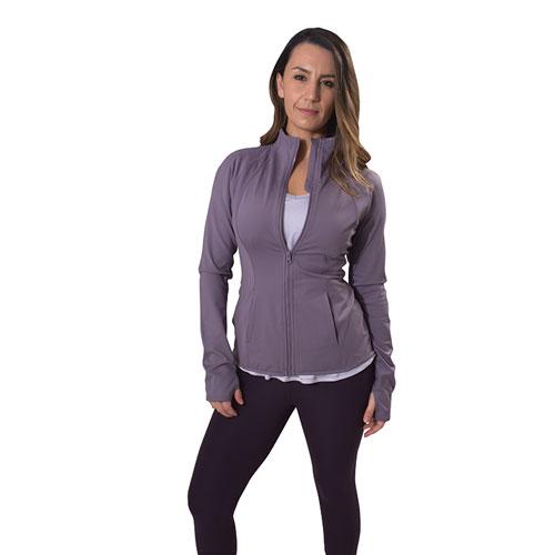 Women's Flared Bottom Active Jacket, Light Purple, swatch