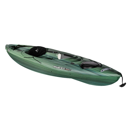 Quest 100x Angler Sit-In Kayak, Black/Green, swatch