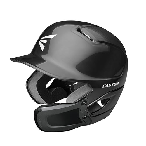 Alpha Batting Helmet with Universal Jaw Guard, Black, swatch