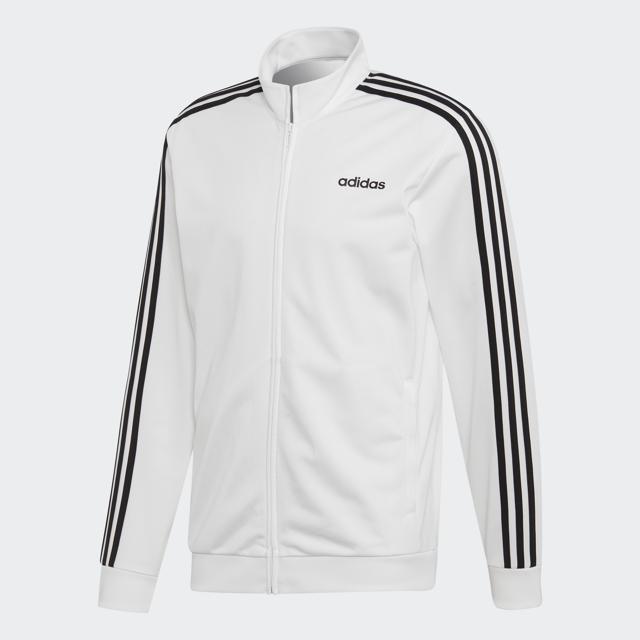 Men's Essential 3 Strip Tricot Jacket, White, swatch
