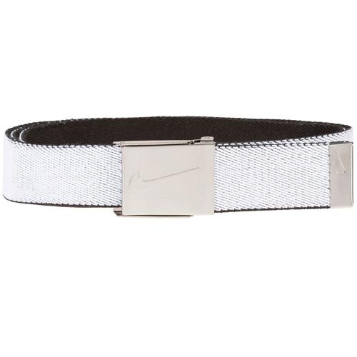 Men's Reversible Stretch Webbing Golf Belt, White/Black, swatch