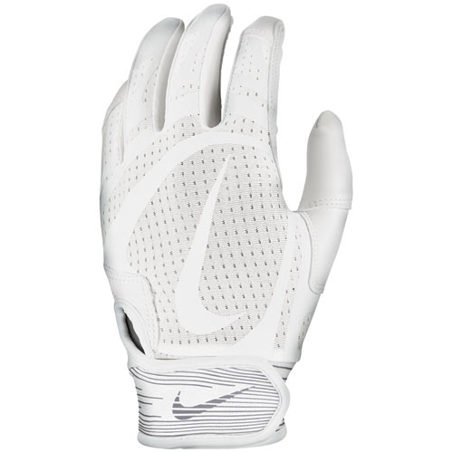 Youth Alpha Huarache Edge Batting Gloves, White/White, swatch