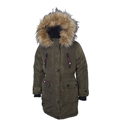 Girls Anorak Jacket  7-16, Dkgreen,Moss,Olive,Forest, swatch