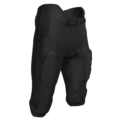 Youth Terminator 2 Integrated Polyester Football Pant, Black, swatch