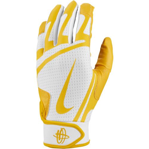 Youth Huarache Edge Batting Glove, White/Yellow, swatch