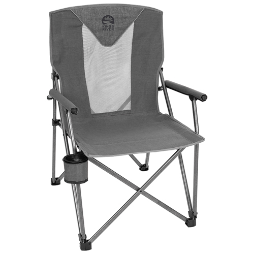 Deluxe Hard Arm Chair, Gray, swatch