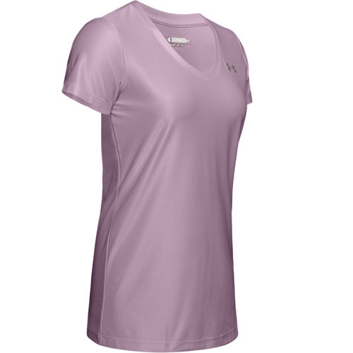 Women's Tech V-Neck T-Shirt, Mauve, swatch