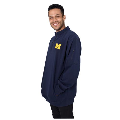 Men's Michigan 1/4 Zip Fleece, Team, swatch