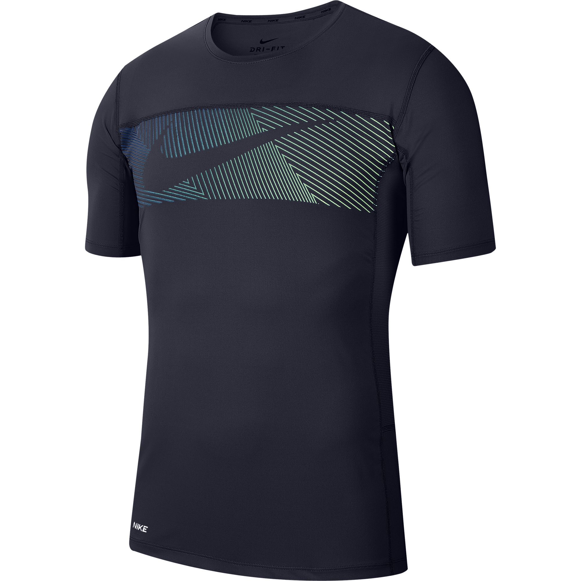 Men's Short-Sleeve Graphic Training Top, Navy, swatch