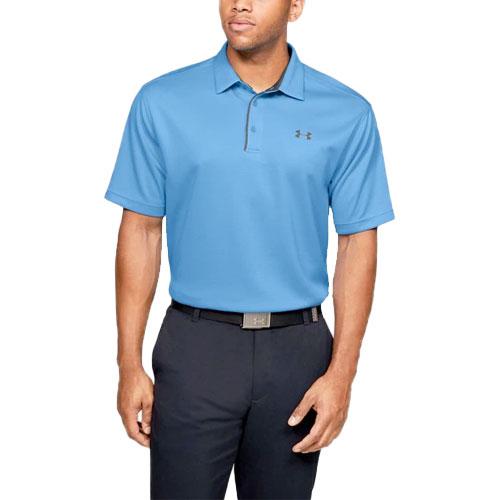 Men's Tech Short Sleeve Polo, Lt Blue,Powder,Sky Blue, swatch