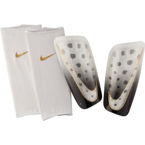 Mercurial Lite Shin Guards, White/Gold, swatch