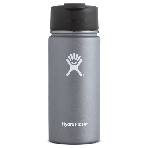 16 Oz Wide Mouth Water Bottle, Graphite, swatch