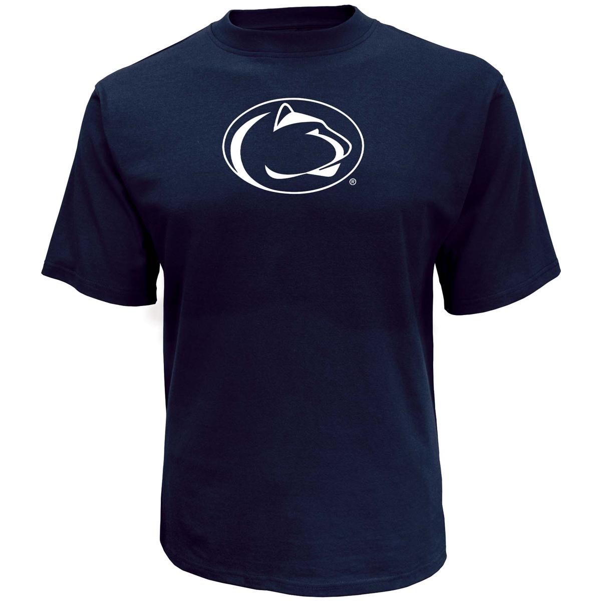 Men's Penn State Oversized Logo Short Sleeve T-Shirt, Navy, swatch