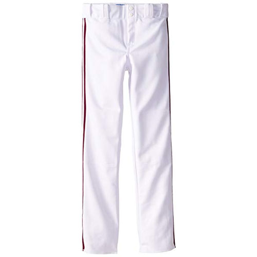Adult Slug Trip Crown Open Hem Pant, White/Maroon, swatch