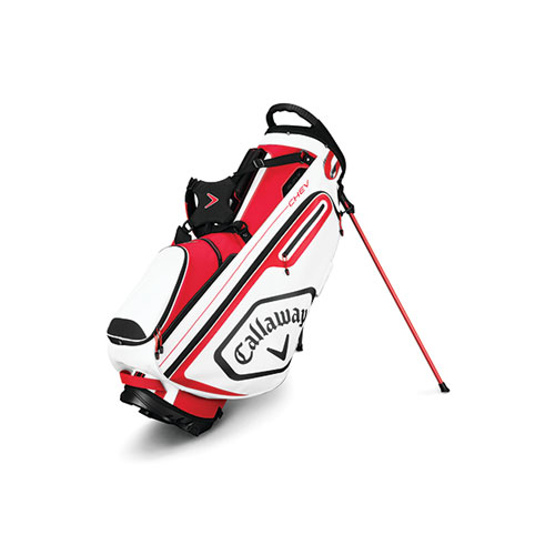 Chev Stand Golf Bag, Red/Black/White, swatch