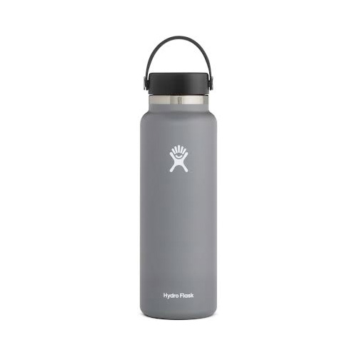 40oz Wide Mouth Stainless Steel Bottle, Gray, swatch