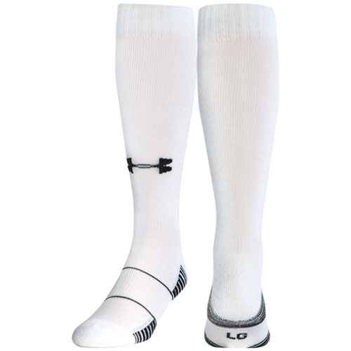 Team Football Over-the-Calf Socks, White, swatch