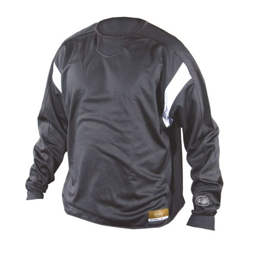 Youth Dugout Pullover, Black, swatch