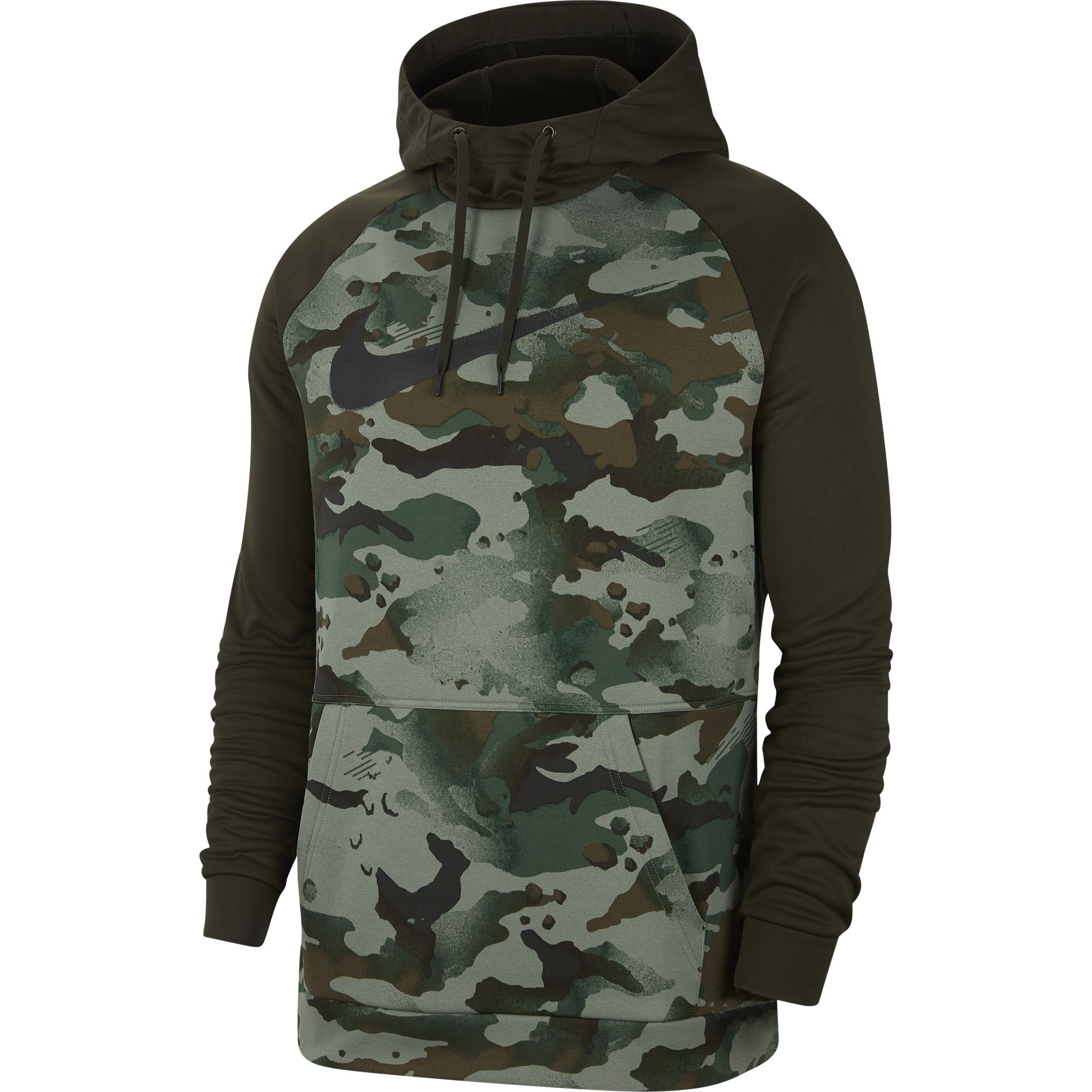 Men's Pullover Training Hoodie, Green, swatch