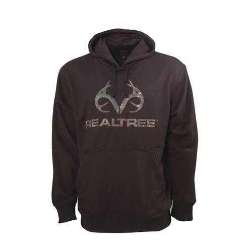 Men's Realtree Logo Hoodie, Black, swatch