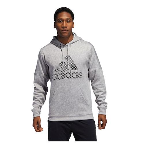 Men's Team Issue Fleece Logo Hoodie, Heather Gray, swatch
