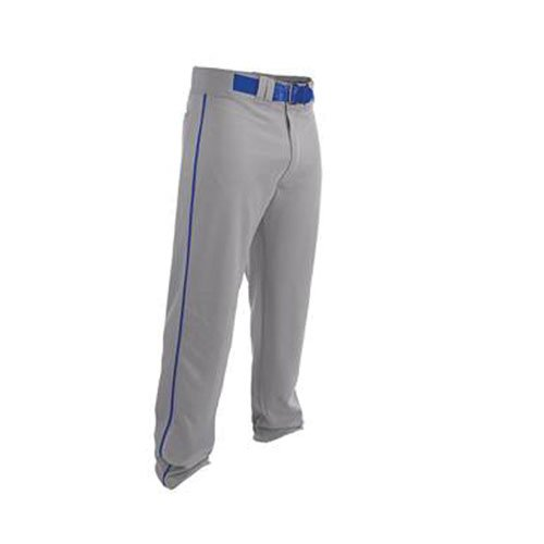 Youth Rival 2 Piped Baseball Pants, Gray/Blue, swatch