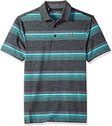 Men's Playoff Golf Polo, Gray, swatch