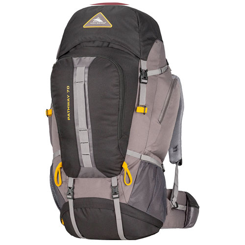 Pathway 70L Hiking Pack, Black/Gold, swatch