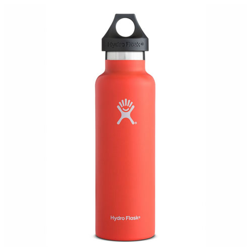 21 Oz. Standard Mouth Water Bottle, Bright Red,Scarlet,Flame, swatch