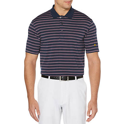 Jack Nicklaus Three Color Men's Striped Polo, Navy, swatch