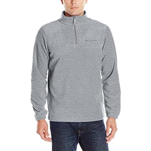 Mens Steens Mountain Half Zip Soft Fleece Jacket, Charcoal,Smoke,Steel, swatch