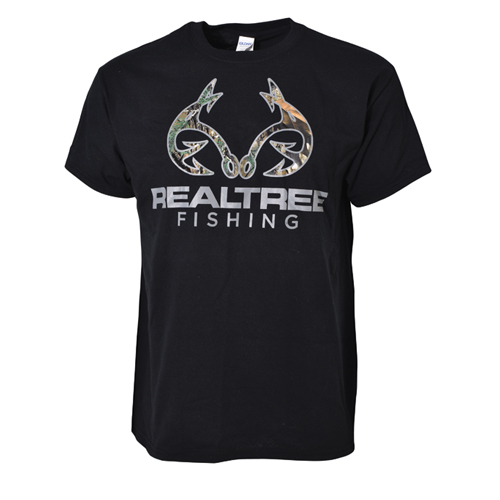 Fishing Men's Short Sleeve RT Xtra Fishing Logo Tee, Black, swatch