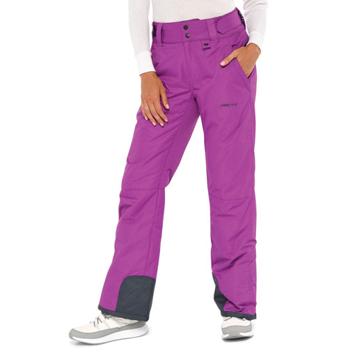 Women's Snow Ski Pants, Purple, swatch