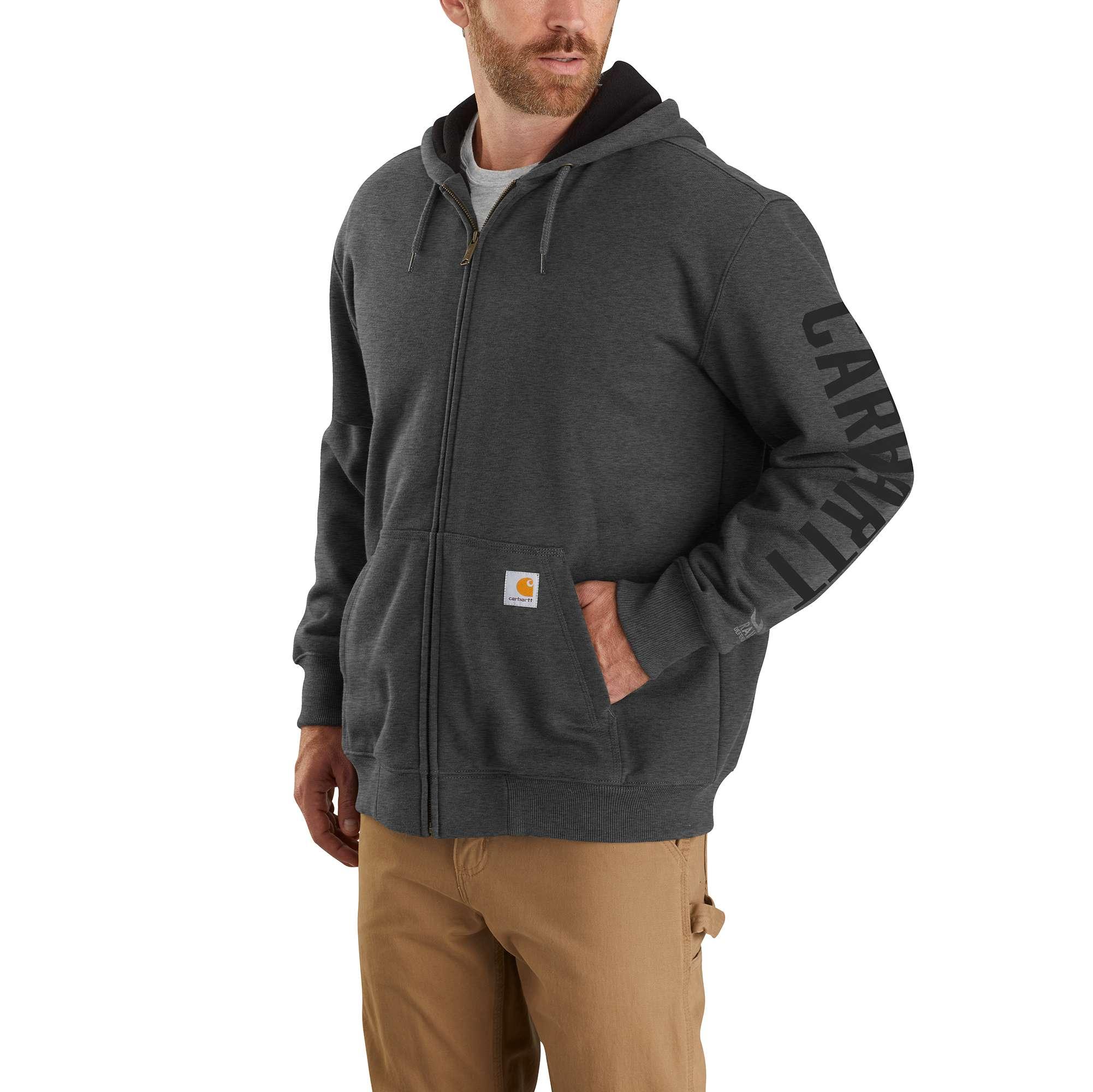 Men's Rain Defender Logo Sweatshirt, Dark Gray,Pewter,Slate, swatch