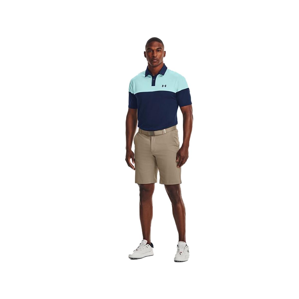 Men's T2G Blocked Polo Shirt, Lt Blue/Blue, swatch