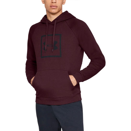Men's Rival Fleece Logo Hoodie, Dk Red,Wine,Ruby,Burgandy, swatch