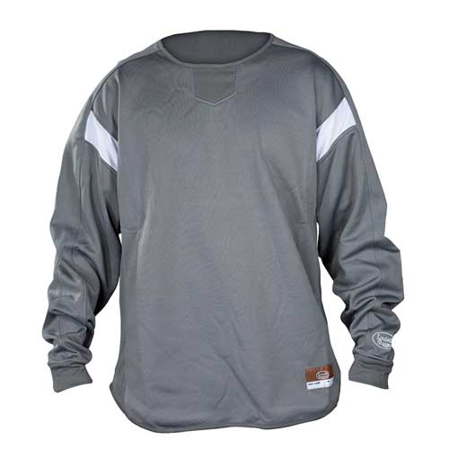 Youth Dugout Pullover, Gray, swatch
