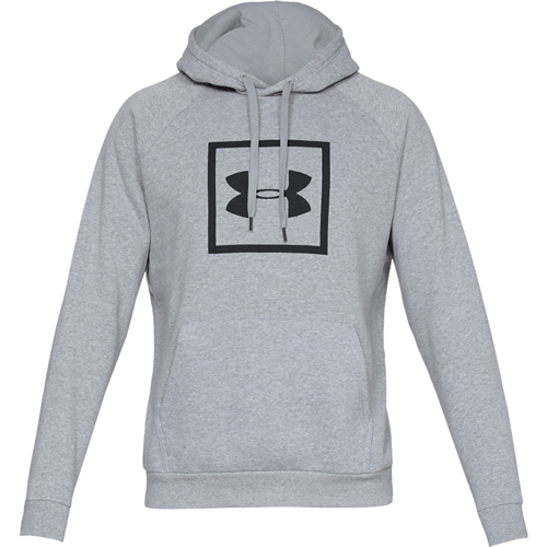 Men's Rival Fleece Logo Hoodie, Heather Gray, swatch