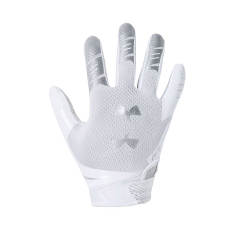 Youth F7 Football Receiver Gloves, White, swatch