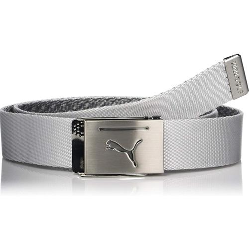 Men's Reversible Web Golf Belt, White, swatch
