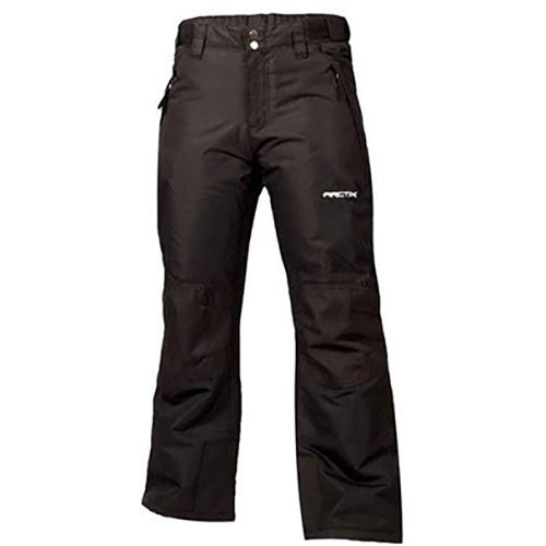 Girls' Reinforced Snow Pants, Black, swatch