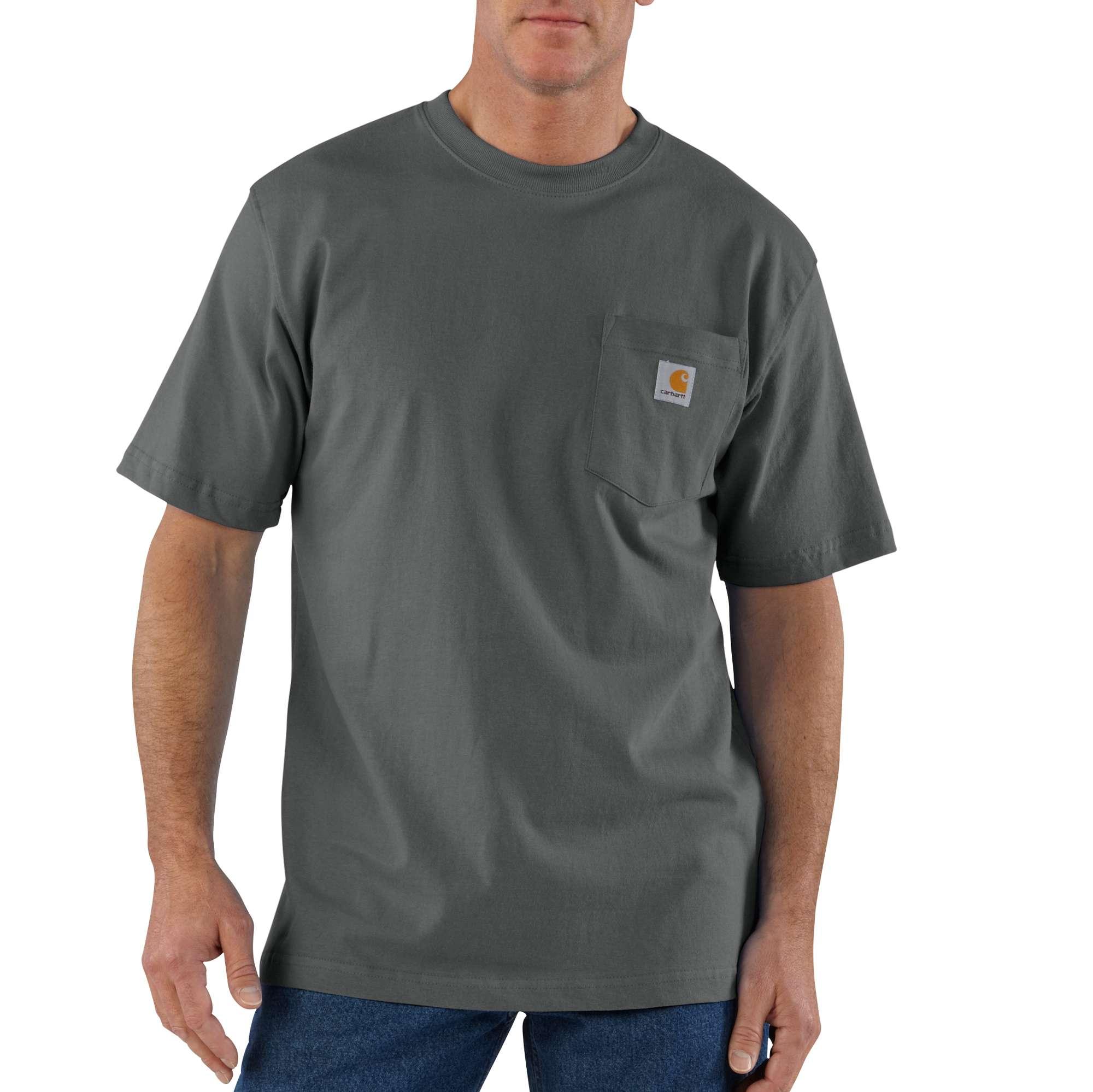Men's Workwear Pocket Tee, Charcoal,Smoke,Steel, swatch