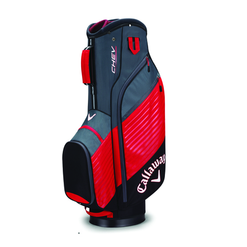 Chev Cart Golf Bag, Black/Red, swatch